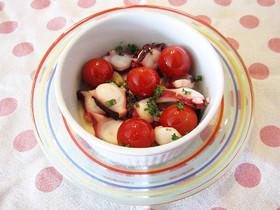 プチトマトとタコのガーリック炒め