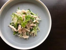 鶏ささみと水菜のさっぱり新生姜和え