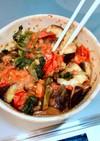 レンジで簡単!夏野菜のカレー炒め!
