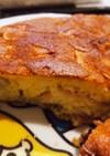 ハムとバナナのホットケーキ