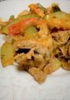 ズッキーニと茄子や夏野菜のポークチャップ