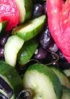 黒豆とトマトときゅうりの和えサラダ