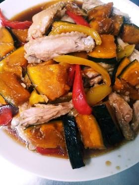 簡単♪鶏スペアリブと夏野菜の甘酢醤油漬け