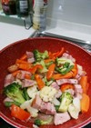 冷凍野菜と冷蔵庫の余り物*温野菜炒め