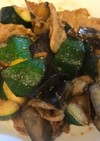 ナスとズッキーニの辛味噌焼き