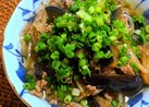 茄子とモヤシのコクうま炒め