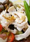 麺つゆで簡単茄子と豚しゃぶサラダ風