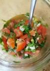 トマトの万能ねぎ塩だれ(保存食品)