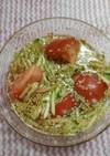 きゅうりとトマトの中華スープ