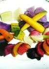 簡単♪カラフル野菜の蒸すだけ温野菜
