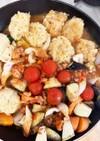 もやし豆腐バーグちくわミートソース炒め煮