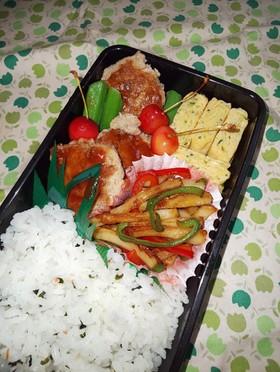 野菜たっぷり男子弁当 54