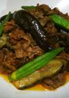 牛肉とナスとオクラの簡単ピリ辛炒め