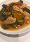 野菜たっぷり!鶏肉と夏野菜の炒め物★