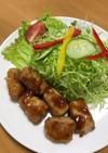 高野豆腐の肉巻き生姜焼き