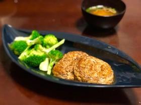 豆腐ハンバーグ照り焼きソース