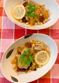 鶏もも肉と白いんげん豆の煮物