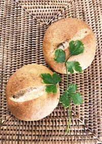 全粒粉のカマンベール入りはちみつパン
