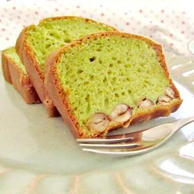 お子様に♪とら豆と青汁のパウンドケーキ