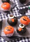 かぼちゃとおばけ☆ハロウィン手まり寿司