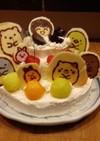 焼かない簡単♪3段キャラクターケーキ♪