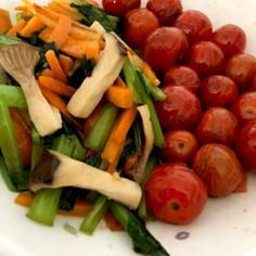 野菜のめんつゆ浸し
