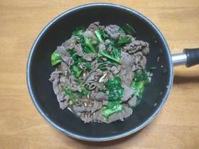 簡単!絶品!レタスと牛肉の炒め物♪