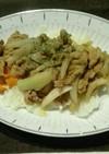 減塩 豚肉のカレー炒め