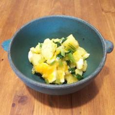 ほうれん草と半熟卵のポテトサラダ