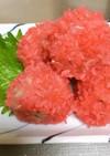 いがむし(餅米つき肉だんご)