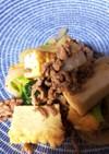 ご飯がすすむ!ひき肉と小松菜と厚揚げ炒め