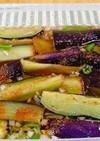 夏野菜薬味の味を楽しむ茄子の揚げ浸し