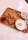 野菜たっぷり米粉チヂミ幼児定食