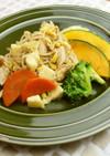 6種の野菜でチーズタッカルビ風サラダ