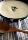 オクラと豆乳の冷え冷えスープ