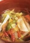 夏野菜たっぷりトマトのスープ