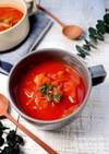 キャベツとウインナーのトマトスープ