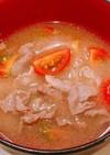 バター香る!夏に、豚肉とトマトの味噌汁!