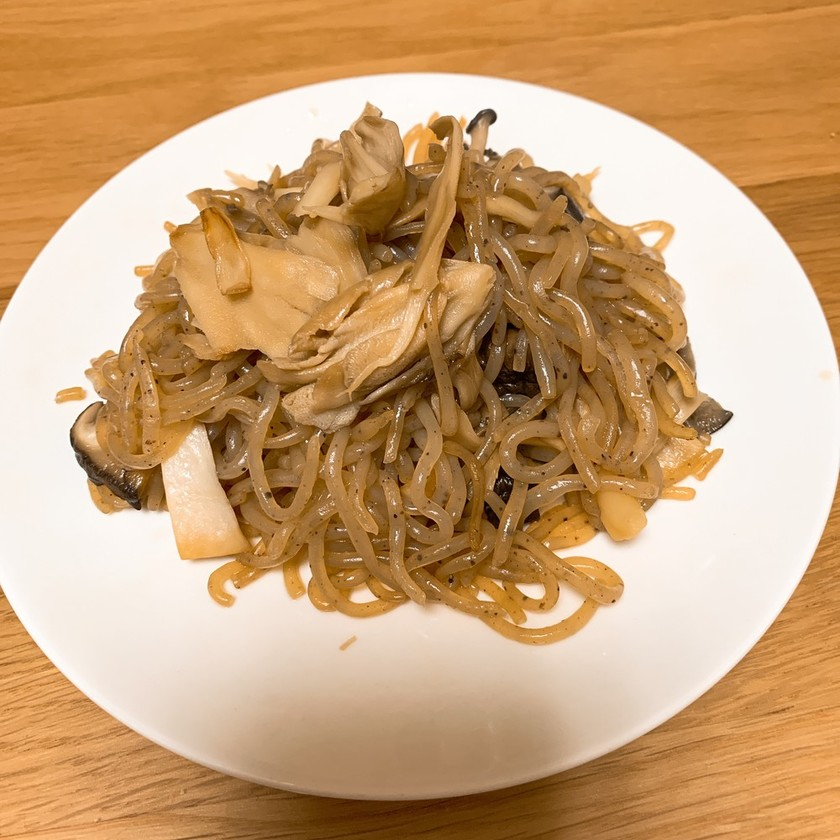 舞茸蒟蒻炒め