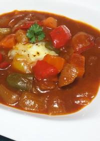 簡単♪デミグラス缶とトマト缶の野菜煮込み