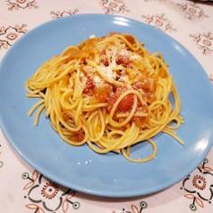 簡単トマトのスパゲッティ