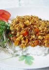 お豆腐キーマカレー