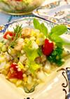 簡単ヘルシー☆夏野菜&蟹の蕎麦の実サラダ
