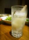 炭酸水+ガリガリ君レモンピール入り