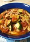 ズッキーニと豚肉のトマト煮込み