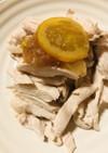 鶏むね肉の茹で煮●梅肉ジャム添え