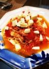 トマトとツナとモッツァレラの冷製パスタ