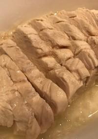 レンジで鶏むねの蒸し鶏