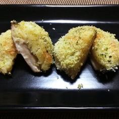 青のり風味・椎茸のポテトチーズ焼き