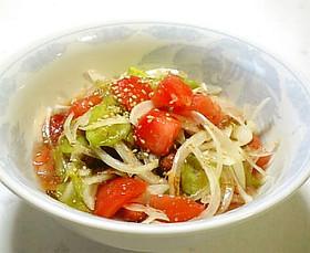 ごま油がいい香り!もずくの中華風サラダ